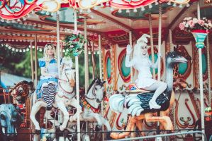 Alice in Wonderland: Carousel by OriyaPrince