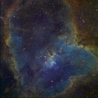 Heart Nebula IC 1805 Ha-SHO by redkojimax