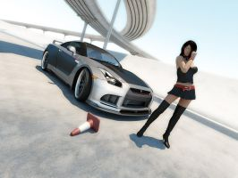 Nissan GTR Tuned 8 by LucianP