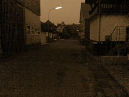 Village at twilight - Sepia by 2Crazy4Nick