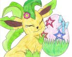 Happy Easter Leafeon by jackstar93
