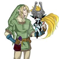 Link x Midna sweet heart by rinoaneko