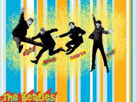 The Beatles by chikaichix