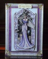 Purple Goddess Birthday Card by blackrose1959