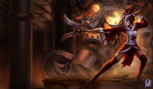 LoL - Blood Moon Akali by Knockwurst