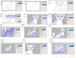 Tutorial: How to draw a Cat by Aira90