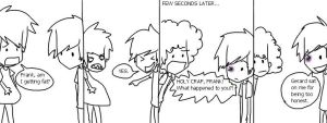 Gerard's weight problems. by countfreakzo