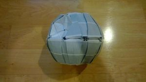 Decaled Origami Death Star by taerkitty