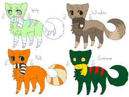 Season Adopts by BlossomTehKat