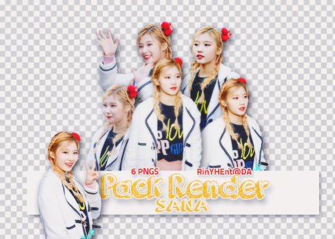 [PACK RENDER #27] 6 PNG SANA - TWICE by RinYHEnt