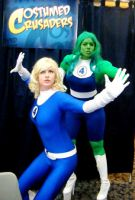 Ladies of the Fantastic Four by commandah86
