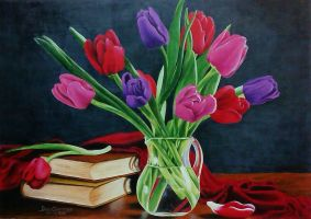 Tulips And Books by DonCabanza