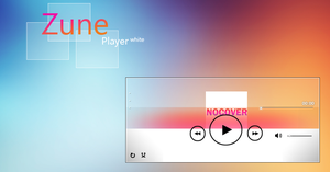 Zune Player White by AxiSan