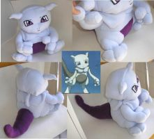 pokemon - baby mewtwo plushie by ichigo-pan43
