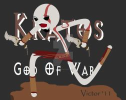 Kratos Stickman by VexVloudz97