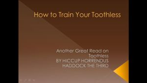 How To Train Your Toothless Cover Page by irishgirl217