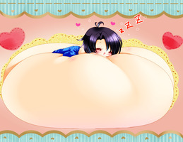 Chibi Busty Bed by LuckyJack020
