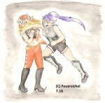 fight - Osram and Odeliah by Feuersichel