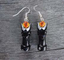 Eye of Sauron Earrings by geeekalicious