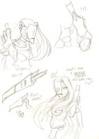 Red Ace Doodles by PhantomeDiclonius