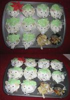 Shaymin Cupcakes by Eternalskyy