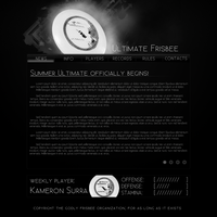 Ultimate Frisbee Web Design by JamaLeH