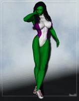 She-Hulk by Stone3D
