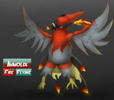 Talonflame fake evolution- Immolix by metalliam