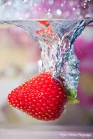 Strawberry and Water by cRomoZone