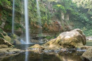 Jungle Waterfall Rock Stock by little-spacey