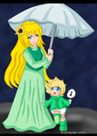 KH BBS: Himawari and baby Ven by AD-SD-ChibiGirl