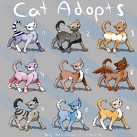 cheap Cat Adopts - moved by Nahemii-chan
