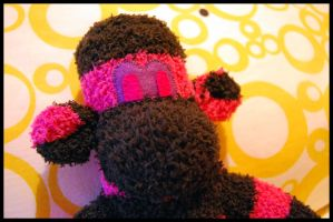 Black and Pink Sock Monkey by Photogenic5