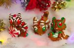 OOAK Gingerbread Dragon Hatchlings by The-SixthLeafClover