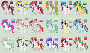 colorful horse palette adopts (OPEN) by rustics