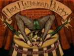 halloween party poster by babsdraws