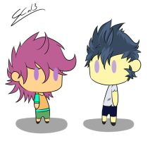 Human Rumble and Scootaloo Chibi!!! by Rigiroony
