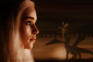 KHALEESI : Game of Thrones - Wallpaper by RottonNymph