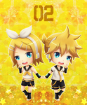 Kagamine Twins by OzenkaLily