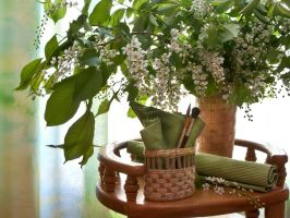 Still Life with branches in bloom by mariall