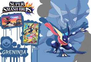 Super Smash Bros Greninja Poster by AuraShaman