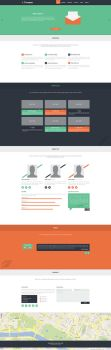 Toscana Flat Responsive Template by haricot-design
