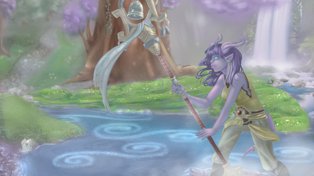 Sheilun, Staff of The Mists by CrisisDragonfly