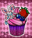 Cupcake Sylveon by drinkyourvegetable