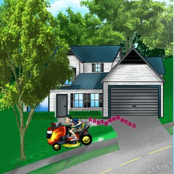 Hot Rod Lawn Mower by TonyTempest