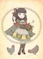 Chickens by Dessabelle