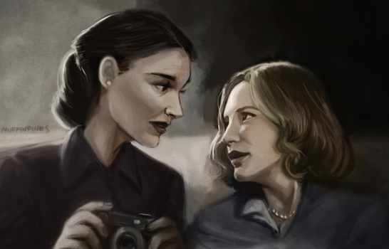 Old Therese and Young Carol AU by Super-Cute