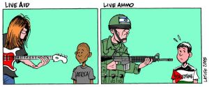 I want a concert for Palestine by Latuff2