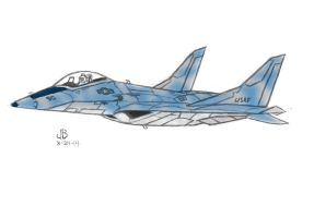 Jet Fighter Idea doodle by Bakerdezign