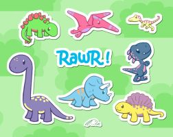 Kawaii Dinosaur World by DCRmx